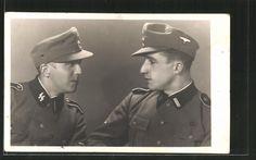 old postcard: Foto-AK Warschau-Warszawa, SS-Rottenführer in Uniform mit Feldmütze
