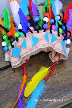 EASY native indian craft for kids - My 3rd grader had lots of fun making this!