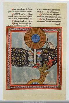 An image from Scivias, Hildegard's description and depiction of 26 visions she had.