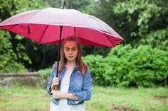 Ida in the rain. Villa Lena struggling out of the winter.