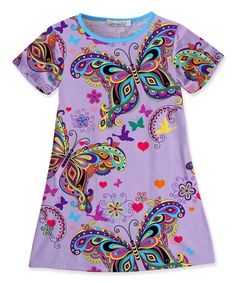 dbcd125212e Look what I found on  zulily! Purple Butterfly Shift Dress - Toddler  amp