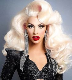 Jingles Hair Brazilian Human Hair Pure Blonde Hair Bundles With Lace Closure 613 Color Body Wave Hair off factory cheap price,DHL worldwide shipping. Alyssa Edwards, Drag Queens, Drag Queen Make-up, Rupaul Drag Queen, Black Drag Queen, Remy Human Hair, Human Hair Extensions, Drag Queen Outfits, Drag Wigs