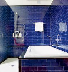 A Bunch Of Beautiful Blue Bathrooms Pinterest Dark Blue Bathrooms Dark Blue And Dark