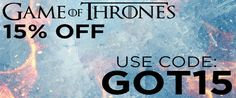 15% Off All Game of Thrones Merchandise-YELLOW BULLDOG