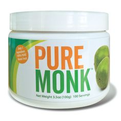 Monk Fruit has been usedfor hundreds of years as a natural sweetener and as a traditional medicine in Eastern cultures. Also known as lo han guo, this fruit extract delivers a clean, sweet flavor, with no aftertaste. 1 Container 100g (100 Servings)
