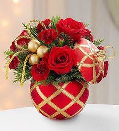 red- gold roses