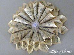 Vintage sheet music wreath