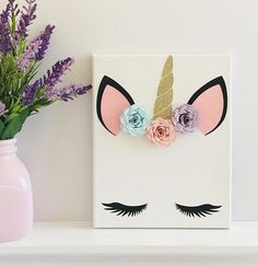 Eskimos may flutter their eyelashes for Eskimo kisses, but unicorn eyelashes result in charmed kisses. Designed for little girls that daydream about cotton candy clouds and herds of enchanted equines, this darling canvas sign will have your child believing in magic. Each of these