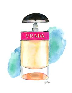 Prada Candy Watercolor Illustration Print by KaraEndres on Etsy
