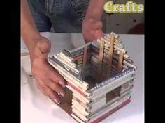 Como fazer uma casa de folha de jornal - YouTube Craft Videos, Newspaper, Youtube, Amazing, Diy, Crafts, House, Origami, Decor
