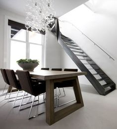 Rectangular dining table SLIDE by @Odesi Dutch Design Online   #design Remy Meijers #staircase #interiors