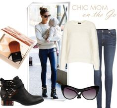 Simple, elegant with edge White Jumper, Cream Sweater, White Sweaters, Black Leather Ankle Boots, Black Boots, Leather Jacket, Jeffrey Campbell, Mom Outfits, Cute Outfits