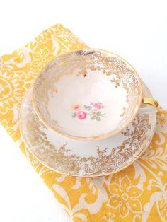 Vintage Bavaria Elfenbein Porcelain Tea Cup and by MariasFarmhouse