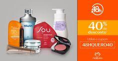 Faça sua primeira compra na Rede Natura e ganhe 40% OFF*, usando o cupom 48HQUERO40