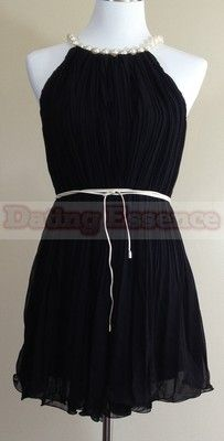 Short Pearl Pleated Party Dress