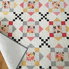 Rooftops quilt finished for my new granddaughter Coraline. Thanks for the free pattern @amysinibaldi! #quilt #babyquiltpatchwork #missouristarshowandtell #babygirlquilt