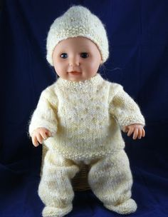 Ideas Baby Born Doll Clothes Patterns Free Knitting For 2019 Knitting Patterns Uk, Knitted Doll Patterns, Knitted Dolls, Free Knitting, Crochet Dolls, Baby Sweater Patterns, Knitted Baby, Knitting Dolls Clothes, Crochet Doll Clothes