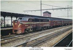 PRR PA1 5752A.  PRR PA1 5752A leads a Pennsyvania-Reading Seashore Lines commuter train.