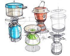 Sketches of Camping Stoves BY Designer Spencer Nugent