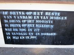 laat het levenswater stromen: Quote, Text or Billboard Alcohol Signs, Funny Texts, Letter Board, Aqua, Billboard, Om, Quote, Google, Quotation