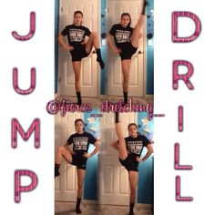 Hi everyone! Here's a jump drill that helps strengthen your legs and helps improve your jump height and flexibility! First kick your leg up bent. Second kick your leg up straight! Repeat on the other leg. Do this about 15 times each everyday! Remember never give up and ALWAYS dream big! love you guys! ∞Meg #Padgram