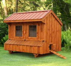 Amish Cedar Quaker Chicken Coop - 5 x 8 - #ChickenCoops - Bird Supplies - Pets & Animals