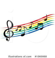 music notes clip art cloud rainbow sun moon light pinterest rh pinterest com free clip art music images free clip art music band