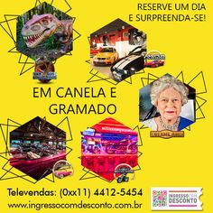 Em Gramado e Canela conheça 5 parques com 1 ingresso combo! Gostou? Então vem curtir! Compre agora: www.ingressocomdesconto.com.br Televendas: (0xx11) 4412-5454
