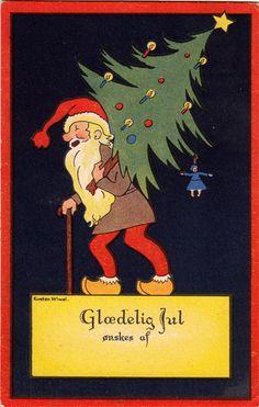 Kirsten Wivel  1885-1961 Postkort Sendt Julen 1938 Tilhører Per Sørensen