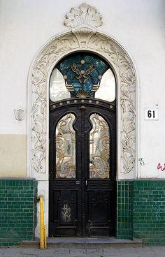 Art Nouveau door in Ukraine