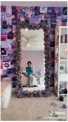 Indie Room Decor, Cute Bedroom Decor, Aesthetic Room Decor, Room Ideas Bedroom, Bedroom Inspo, Purple Bedroom Decor, Purple Room Decorations, Girls Bedroom Purple, Room Ideas For Teen Girls Diy