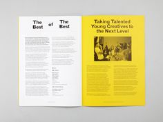 Design for print by Patrick Fry for D&AD Student Awards Magazine 2013.