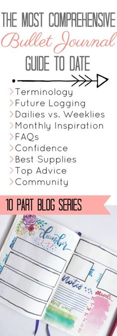 Start you bullet journal with all the right information, provided in this 10 part blog series.