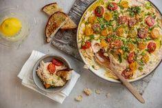 Lohesta ja perunasta syntyy ranskalaissuosikki brandade Alsace, Vegetable Pizza, Quiche, Tapas, Vegetables, Breakfast, Ethnic Recipes, Morning Coffee, Quiches