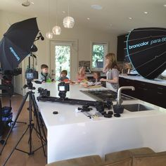 A behind-the-scenes shot from the filming of our Pat-A-Cakes video segment yesterday. So fun! We had the kids trying Pat-Cakes with all sorts of toppings. Pumpkin/Carrot Pat-A-Cakes with pizza sauce and melted cheese anyone? Cake Videos, Melted Cheese, Carrots, Pizza, Pumpkin, Child, Cakes, Table, Fun