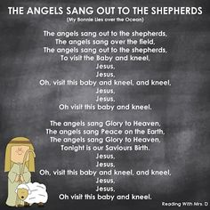 The Angels Sang to the Shepherds Religious Christmas Song - XMAS Childrens Christmas Songs, Preschool Christmas Songs, Christmas Skits, Christmas Program, Christmas Concert, Preschool Songs, A Christmas Story, Kids Christmas, Christmas Activities