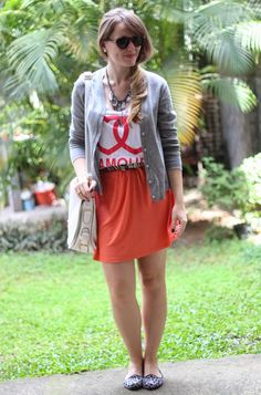 Estilo que curto muito! #skirt #orange #style #TalitaScoralick