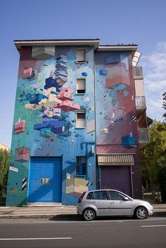Colourful mural in Bologna