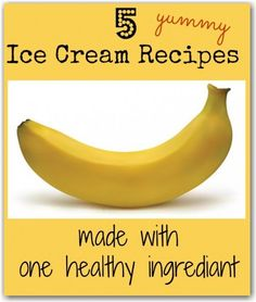 5 healthy banana ice cream recipes. Shhhhh! Don't tell them it's healthy! Seriously the best ice cream recipes ever - they taste indulgent but are mainly fruit. The perfect Summer cool down.