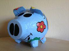 Grosses Sparschwein im NANA Design - Kartenbox -  von Ramonas Sparschweine-Glücksschweine  Geldgeschenke und Geschenkideen für jeden Anlass auf DaWanda.com