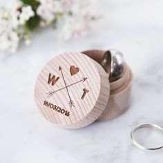 Personalised Wooden Arrows Ring Box - Engraved Ring Box - Arrow Wedding - Gift for Couples - Personalised Ring Box - Tribal Wedding Personalized Rings, Personalised Box, Personalized Wedding, Wooden Ring Box, Wooden Rings, Ring Holder Wedding, Wedding Rings, Chic Wedding, Summer Wedding