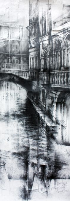 Fragments of Venice, Graphite and Turpentine, Ian Murphy