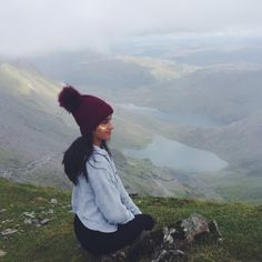 Hen Party - Bride to be and her bridesmaids hiking up Mount Snowdon, Wales