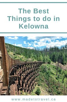The Best things to do in Kelowna this summer! Click through for information on activities in Kelowna, wineries, hikes, myra canyon trestles, and more in this beautiful okanagan city! Voyage Canada, Canada Canada, Things To Do In Kelowna, Places To Travel, Places To See, Canadian Travel, Western Canada, Best Hikes, British Columbia