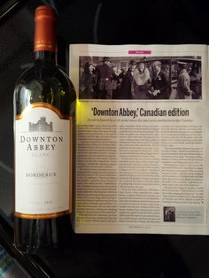 "Perhaps tonight is the night to enjoy the bottle of #DowntonAbbey wine I've been saving - I'm mentioned twice in #Macleans article this week: ""Downton Abbey, Canadian Edition :)"