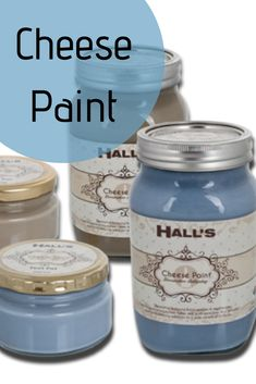 CHEESE PAINTS: Chuck on an old t-shirt and lay down some newspaper – it's time to get crazy crafty with Hall's Cheese Paints! Hall Painting, Diy Store, Old T Shirts, Newspaper, Cleaning Hacks, Mason Jars, Diy Projects, Cheese, Crafty