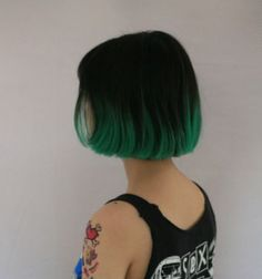 35 short ombre hair color ideas for brunettes that are cool short pixie ombre hairstyle ideas 38 fashion best 15 … Short Grunge Hair, Short Dyed Hair, Green Hair Ombre, Ombre Hair Color, Dip Dye Black Hair, Black And Green Hair, Blonde Ombre, Hair Colors, Hair Dye Tips