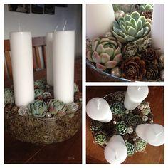 Detaljebilleder af årets adventskrans - julen 2013 / Advent wreath - Christmas 2013