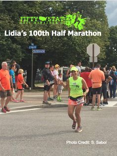 Lidia's 100th Half Marathon! 50 States HALF Marathon Club™  Join the Journey - 50 States Half Marathon Challenge, 50 States Endurance Challenge, Canada 10 Provinces Half Marathon Challenge, 100 Half Marathons - Club Challenges are all walker friendly, No minimums to join, No time limits to finish.  It's all about the Journey! Lots of challenges to choose from, Discounts, Annual Meet Up, Awesome Awards, and fun members to enjoy your journey with!  www.50stateshalfmarathonclub.com