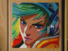 Arcade Riven Portrait - League of Legends Hama beads by Cimenord